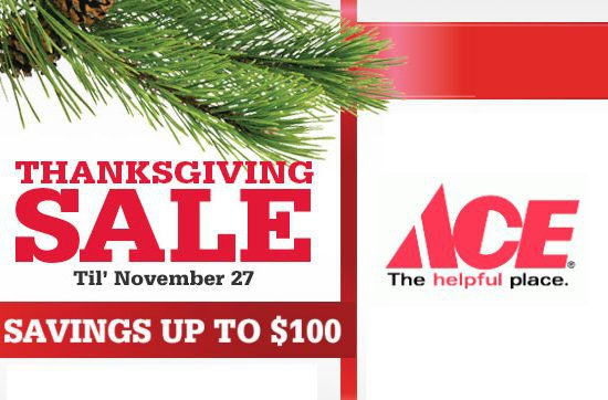 Ace Hardware Thanksgiving Sale Live Now