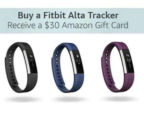 FREE $30 Amazon Gift Card WYB Fitbit Alta Tracker