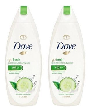 Dove Go Fresh Body Wash 22oz Bottles 4-Pack $11.76 **Only $2.94 Each Shipped**