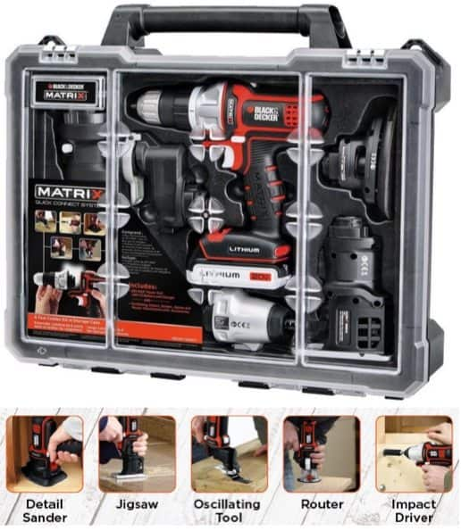 Black & Decker Matrix 6 Cordless Tool Combo Kit with Case $119 (Was $181)**Today Only**