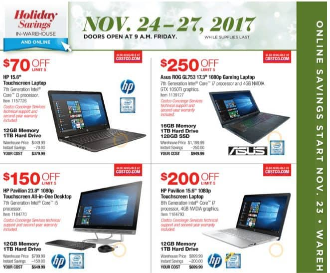 2017 Costco Black Friday Ad Scan