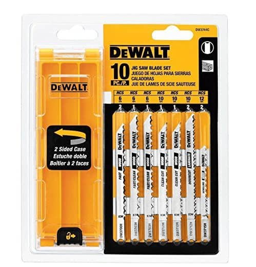 DEWALT 10-piece Jig Saw Blade Set As Low As $4.89 (Was $25)