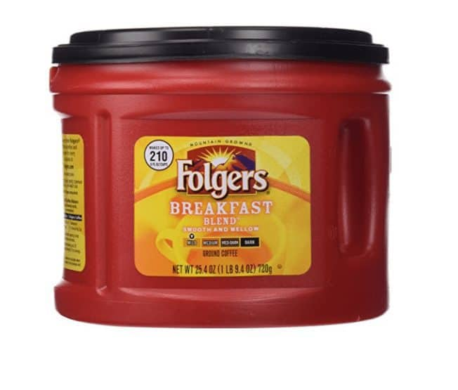 Folgers Breakfast Blend Ground Coffee, Mild Roast, 25.4 Ounce ONLY $3.57 *HOT*