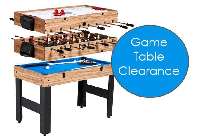 Walmart Game Table Clearance - Prices Start at $24