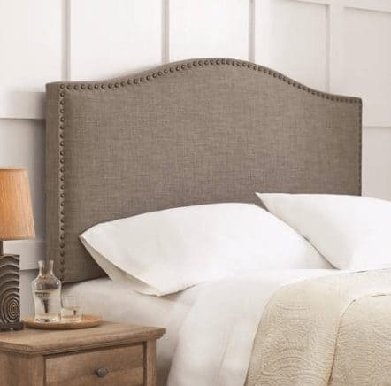 Grayson Linen Upholstered Headboard with Nailheads ONLY $59 Shipped