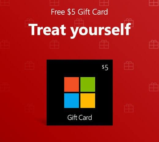 if you have a microsoft account you might want to check your email for one titled heres a 5 gift card just for you yes it has a free 5 microsoft