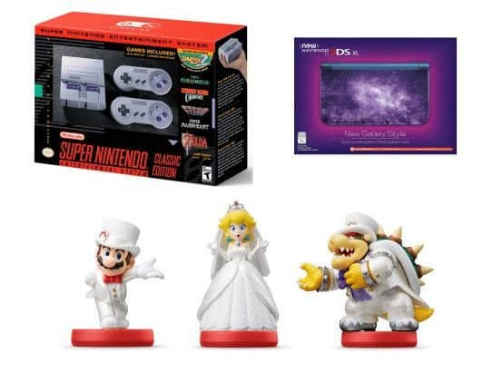 Nintendo SNES with Galaxy-Style 3DS XL and Mario Odyssey Amiibos $314 Shipped