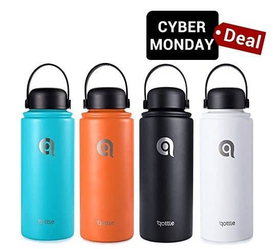 qottle 32oz Stainless Steel Vacuum Insulated Water Bottle $11