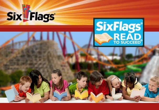 Kids Grade K Thru 6 Get FREE Six Flags Tickets for Reading