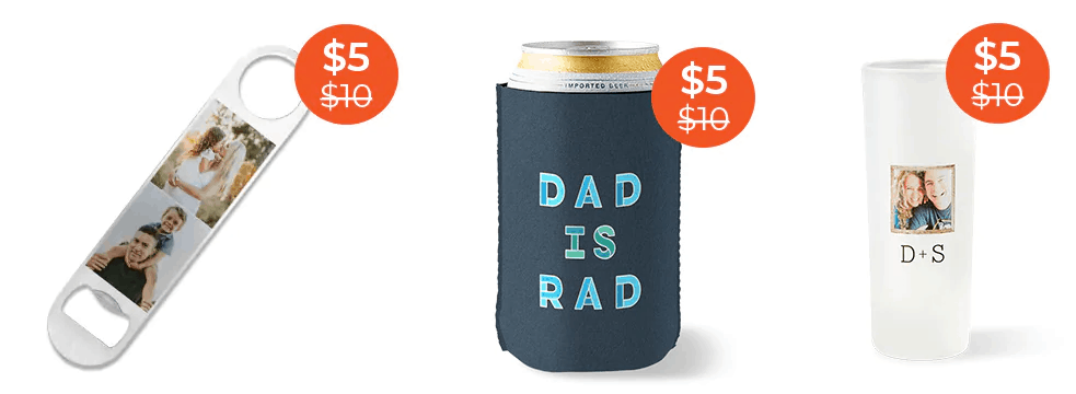 Custom Bottle Opener, Shot Glass or Can Cooler .00 w/ Free Shipping