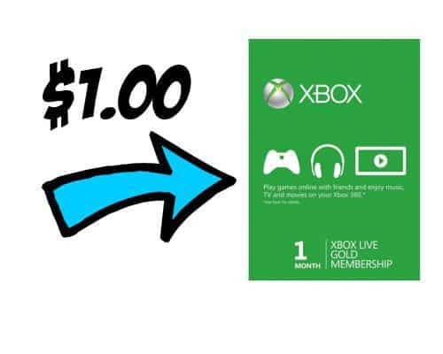 One Month Xbox LIVE Gold Membership ONLY $1.00 **HOT**