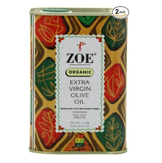 25.5 oz Tin of Zoe Organic Extra Virgin Olive Oil $9.49 Shipped!