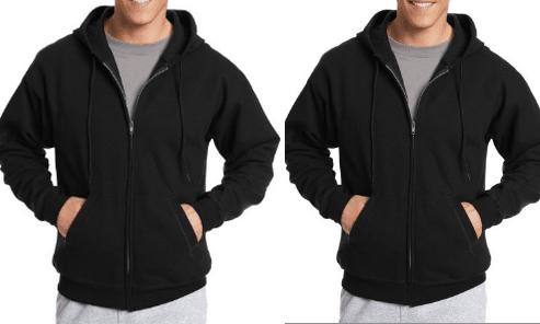 2 Pack Hanes Men's ComfortBlend EcoSmart Fleece Full Zip Hoodies $20