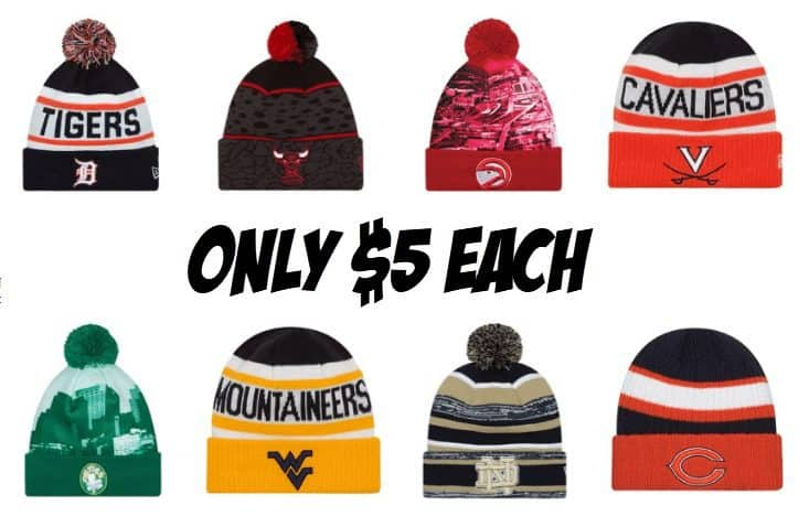 Men's NBA, NFL, NCAA Team Beanies ONLY $5 Each + Free Shipping