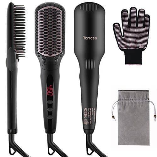 Terresa Hair Straightener Brush ONLY $19.99