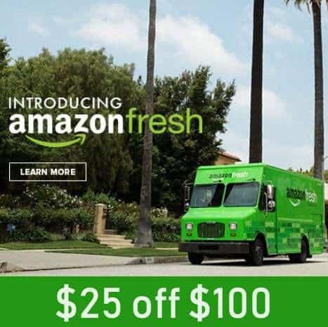 $25 off Any $100 Amazon Fresh Order