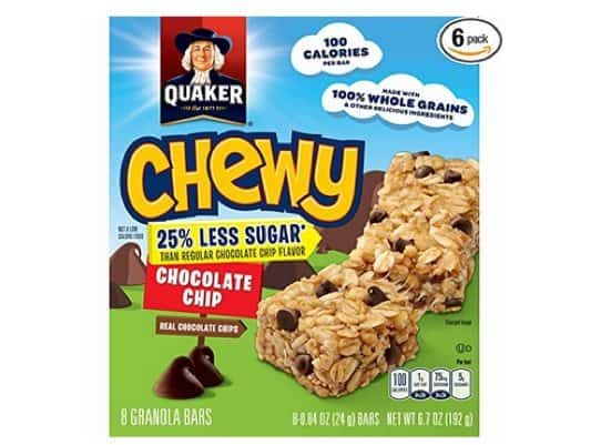 48 Quaker Chewy Granola Bars $8.91 Shipped **Only 19¢ Per Bar**