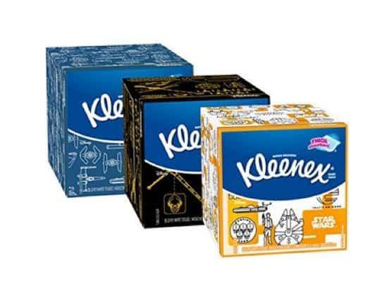 27 Boxes of Star Wars Designs Kleenex Facial Tissues $22.49