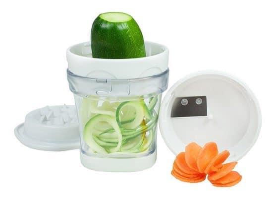 Paderno World Cuisine 2-Blade Handheld Turning Vegetable Slicer Spiralizer ONLY $6.95