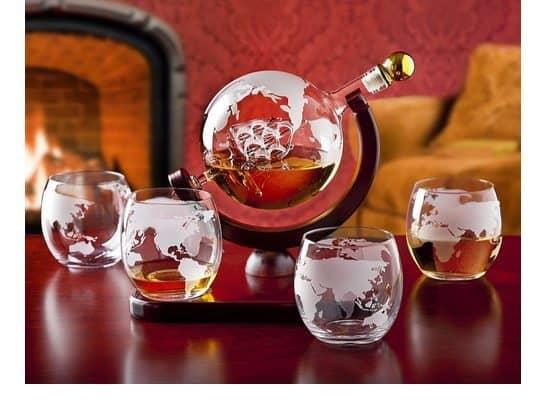 Whiskey Decanter Globe Set $43.99