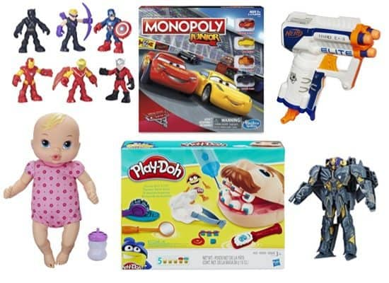 Up to 82% Off Hasbro, Play-Doh, NERF, Transformers & More ~ Prices as low as $1.73 **Today Only**