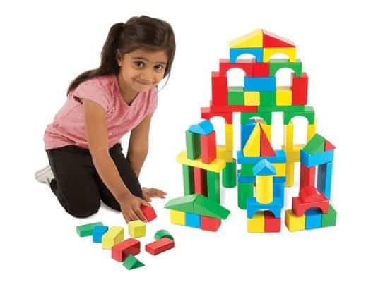 Melissa & Doug 100 Piece Wooden Building Blocks Set Only $10.20