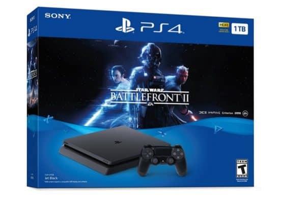 PlayStation 4 Slim 1TB Console - Star Wars Battlefront II Bundle $249