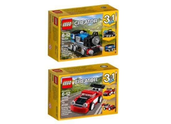 LEGO Creator Blue Express Red Racer Building Kit Only $8.99