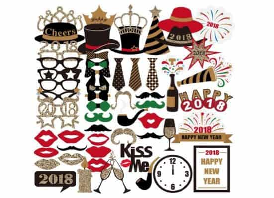 New Years Eve Photo Booth Props Only $11.99 **59 Pieces**