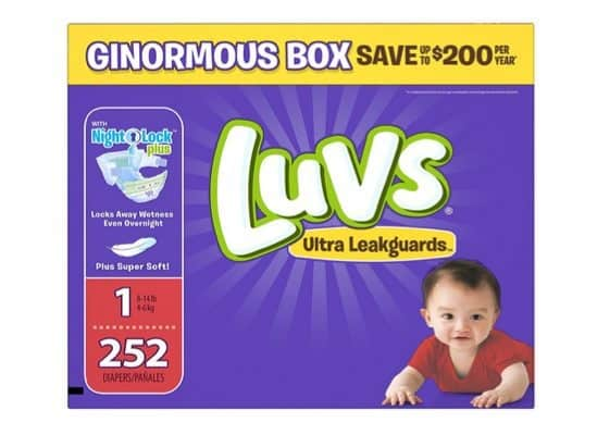 Luvs Ultra Leakguards Size 1 Diapers 252-Count $16.98 Shipped **Only 7¢ Per Diaper**