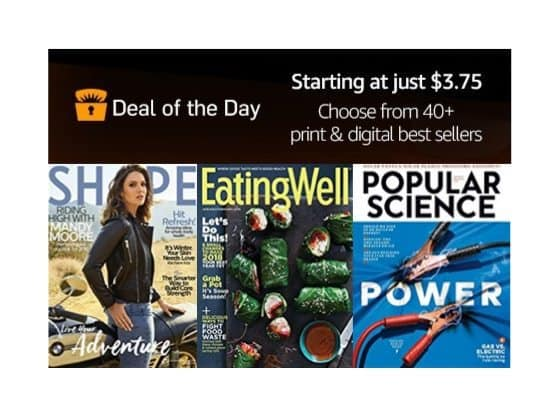 Up to 92% Off Magazine Subscriptions **Today Only**