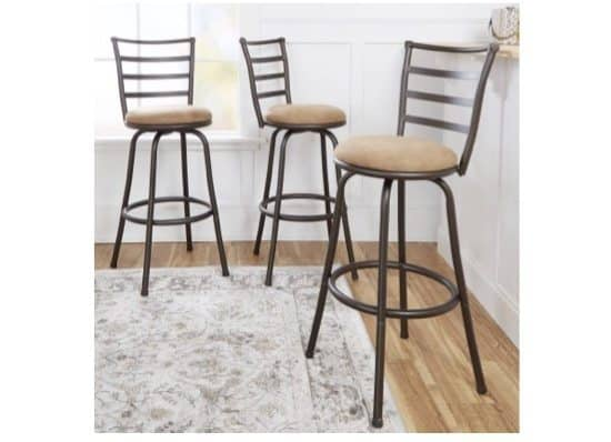 Set of 3 Mainstays Adjustable-Height Swivel Barstools $49.99 **Only $16.66 Each**