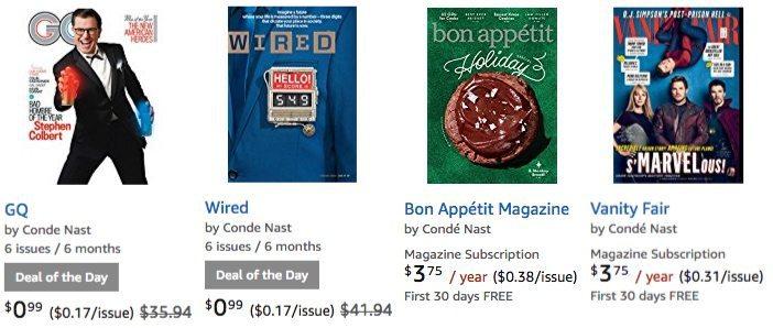 Amazon: Up to 97% Off Print & Digital Magazines