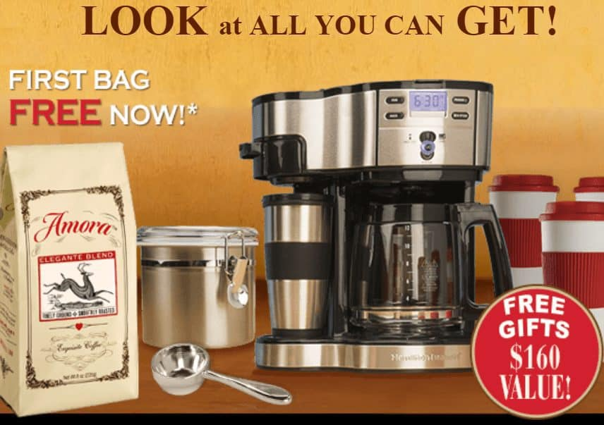 FREE Large Bag of Amora Coffee + $160 in Freebies - Just Pay $1.00 Shipping