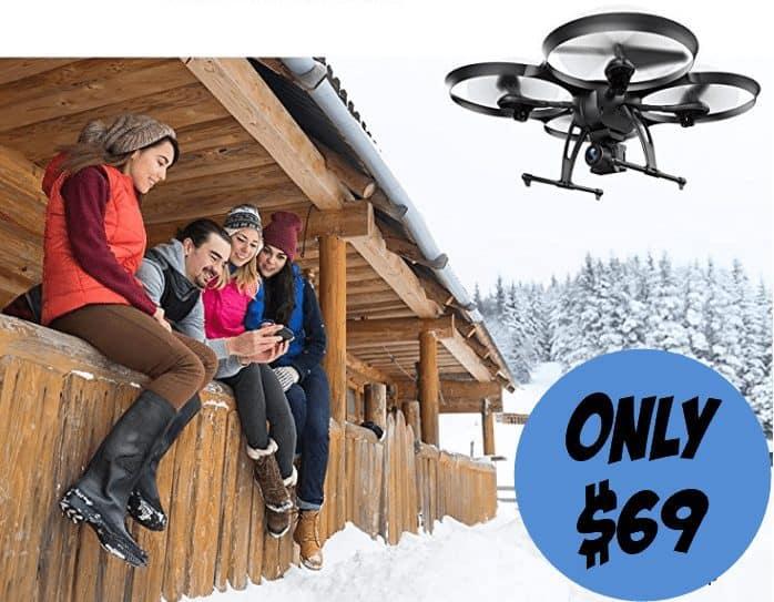 DROCON WIFI Drone With Wide-Angle HD 2MP Camera $69.99 (Was $137)