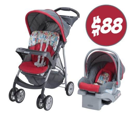 Graco LiteRider Click Connect Travel System $88.99 (Was $150)
