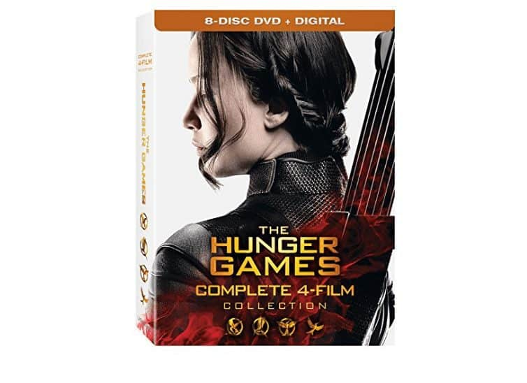 The Hunger Games: Complete 4 Film DVD Collection $13
