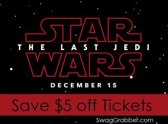 Save $5 off Star Wars: The Last Jedi Movie Tickets - Actually ALL Tickets!