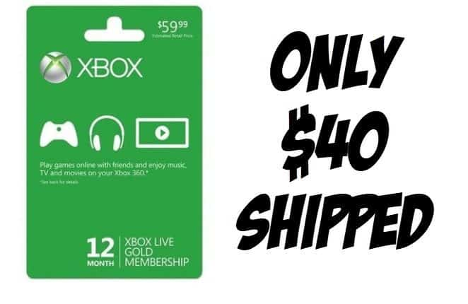 Xbox Live 12 Month Gold Membership Deal - ONLY $40 Shipped