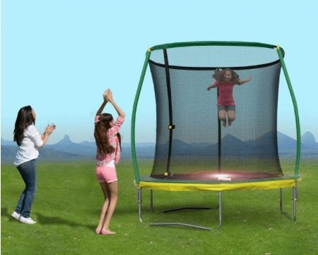 8 Ft Steelflex Trampoline with Enclosure & Mini Flash Light Zone $49 (Was $100)