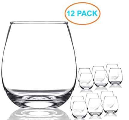 Chef's Star 15 Ounce Shatter-Resistant Stemless Wine Glass Set (12 Pack) ONLY $9