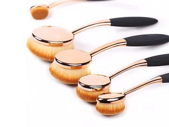 5 Piece Oval Makeup Brush Set Only $8.99