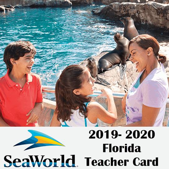 2019 seaworld florida teacher card