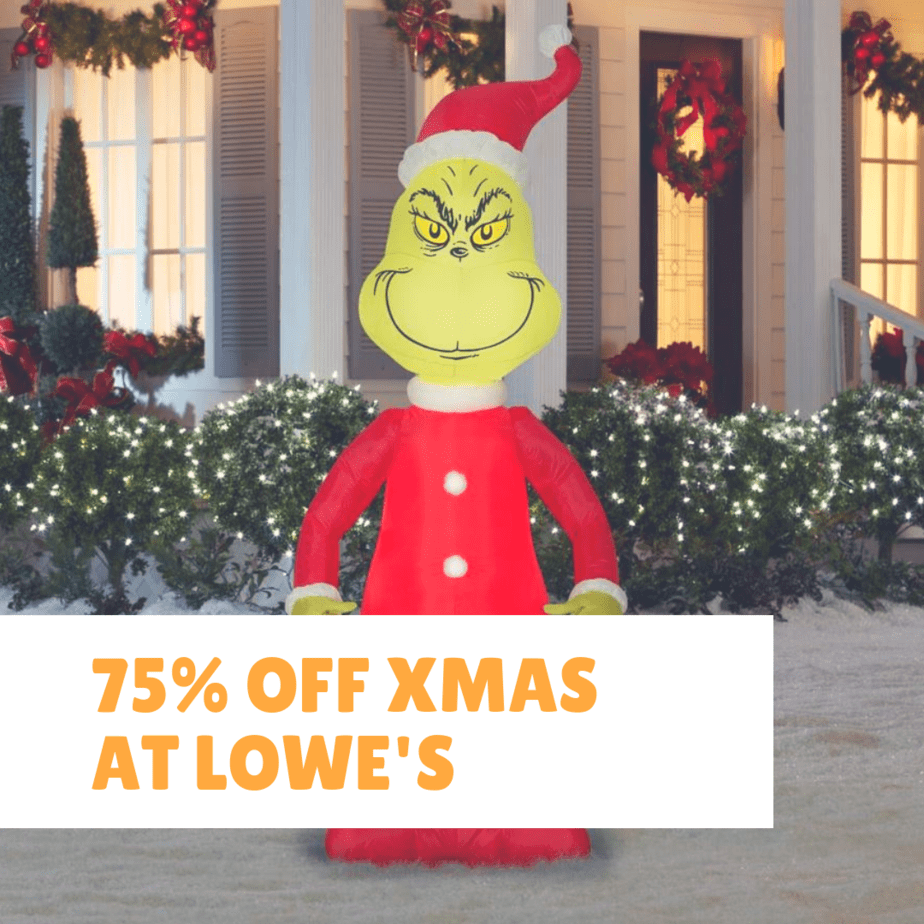 Lowe's Christmas Clearance Up to 75% off + Free In-Store Pick Up