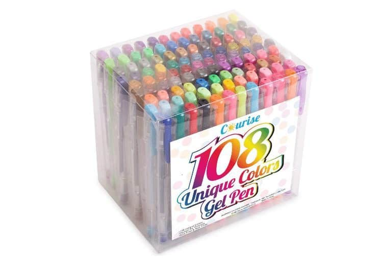 Courise 108 Unique Colors Gel Pens Set $12.96 (Was $49.99)