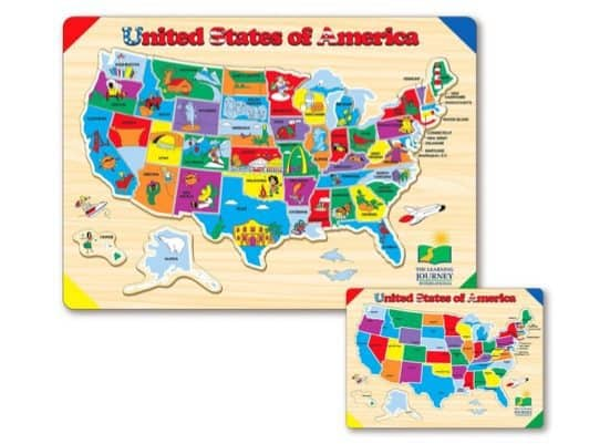 The Learning Journey Lift & Learn USA Map Puzzle Only $8
