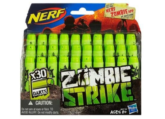 Official Nerf Zombie Strike 30-Dart Refill Pack Only $3.97