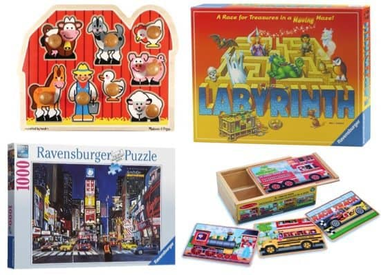 Up to 72% Off Puzzles and Games from Ravensburger and Melissa & Doug ~ as low as $4.79