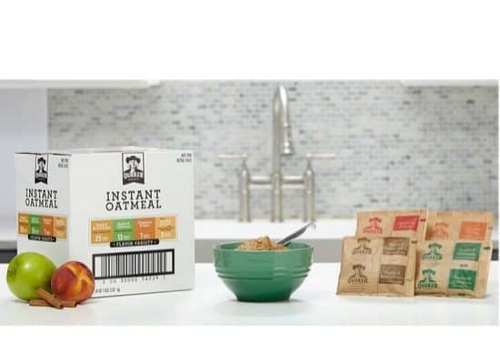 Quaker Instant Oatmeal Variety Pack 48 Count $6.77 Shipped **Only 14¢ Each**