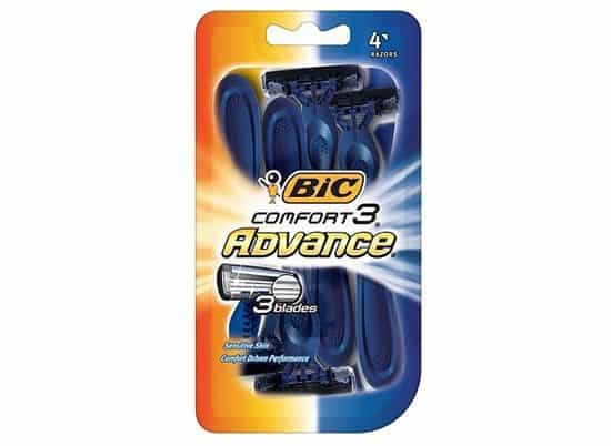 4-Pack BIC Comfort 3 Advance Men's Disposable Razors ONLY $2.38